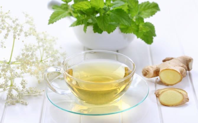 Красивый имбирный чай