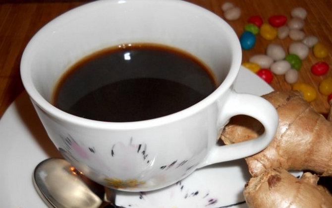 рецепт зелёного кофе с имбирём