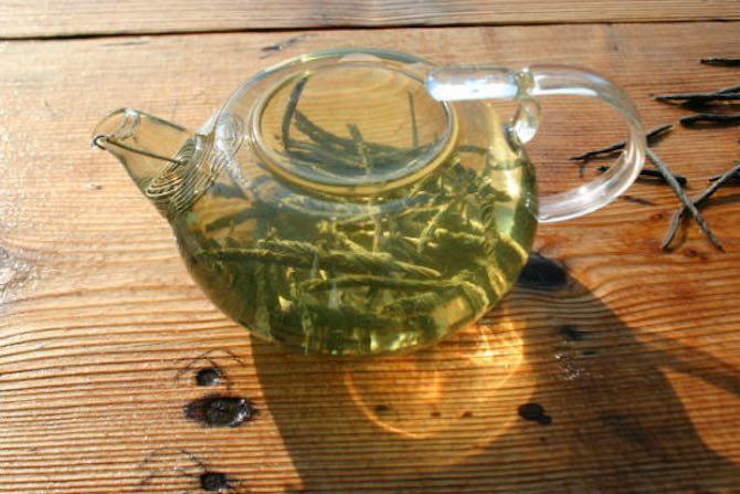 Заваренный чай кудин