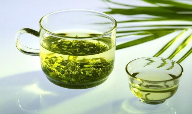 Зеленый чай чашка
