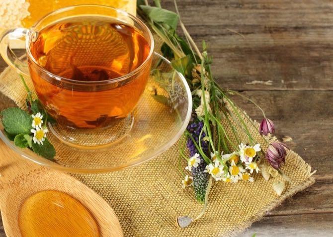 полезный травяной чай для бани