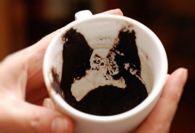 Гадание на кофейной гуще человек под одеялом