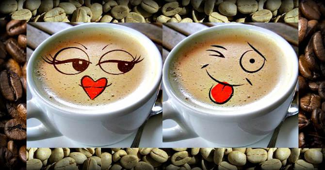 Картинки поцелуй и кофе, шлю